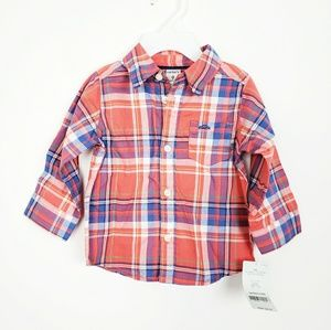 Carter's Plaid Button Down | 9m